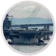 Uss George Washington Round Beach Towel