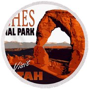 Utah, Arches, National Park Round Beach Towel