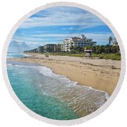 Vacation Visions Round Beach Towel