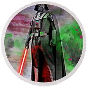 Vader Abstract Round Beach Towel
