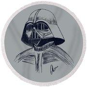 Vader Sketch Round Beach Towel