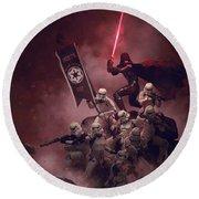 Vader Vs Aliens 3 Round Beach Towel