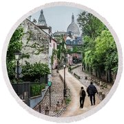Vagabonds In France Book Cover Round Beach Towel