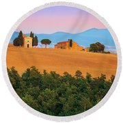 Val D'orcia Serenity Round Beach Towel