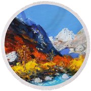 Valbona Round Beach Towel