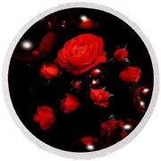 Valentine - Roses Round Beach Towel