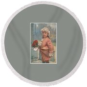 Valentine In The Victorian Era Round Beach Towel