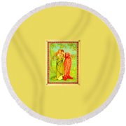Valentine's Card Round Beach Towel