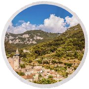 Valldemossa View From The Town Round Beach Towel
