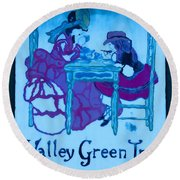 Valley Green Inn Round Beach Towel