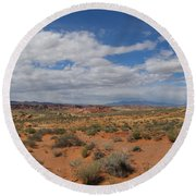 Valley Of Fire Horizon Round Beach Towel