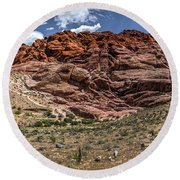 Valley Of Fire IIi Round Beach Towel