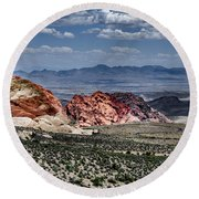 Valley Of Fire Iv Round Beach Towel