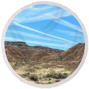 Valley Of Fire Nevada  Round Beach Towel