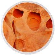 Valley Of Fire Sandstone Round Beach Towel