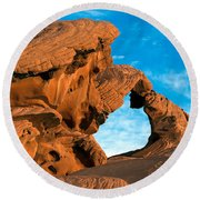 Valley Of Fire State Park Arch Rock Round Beach Towel