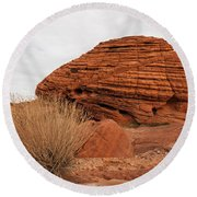 Valley Of Fire State Park Beehives Round Beach Towel