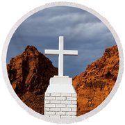 Valley Of Fire State Park Clark Memorial Round Beach Towel
