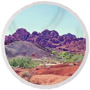 Valley Of Fire State Park, Nevada Round Beach Towel