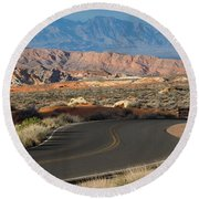Valley Of Fire State Park Rainbow Vista Round Beach Towel