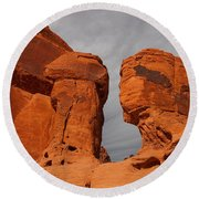 Valley Of Fire State Park Seven Sisters Round Beach Towel