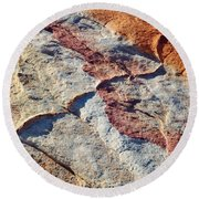 Valley Of Fire White Domes Sandstone Round Beach Towel