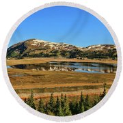 Valley Of Ghosts Round Beach Towel