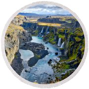Valley Of Tears #2 - Iceland Round Beach Towel