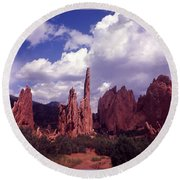 Valley Of The Gods 1964 Round Beach Towel