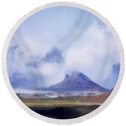Valley Of The Gods Round Beach Towel by Leland D Howard