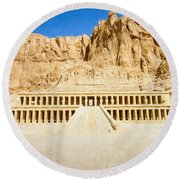 Valley Of The Queens 2 Round Beach Towel