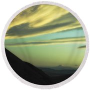 Valley Of The Shadow Round Beach Towel