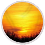 Valley Of The Sun Round Beach Towel