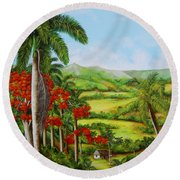 Yumuri Valley Round Beach Towel
