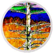 Valley View 1 Round Beach Towel
