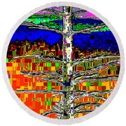 Valley View 2 Round Beach Towel