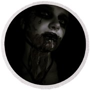 Vampire Feed 2 Round Beach Towel