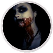Vampire Feed Round Beach Towel