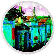 Vampire Tombs New Orleans Round Beach Towel