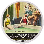 Vamps And Variety 1919 Round Beach Towel