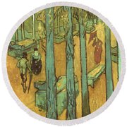 Van Gogh: Alyscamps, 1888 Round Beach Towel