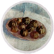 Van Gogh: Apples, 1887 Round Beach Towel