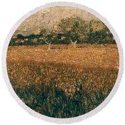 Van Gogh: Arles, 1888 Round Beach Towel