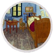 Van Gogh: Bedroom, 1889 Round Beach Towel