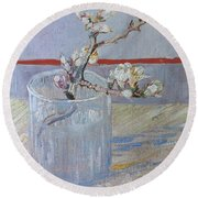 Van Gogh: Branch, 1888 Round Beach Towel