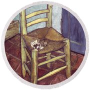 Van Gogh: Chair, 1888-89 Round Beach Towel