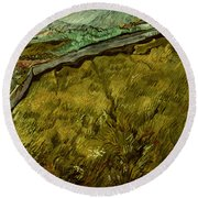 Van Gogh: Field, 1890 Round Beach Towel