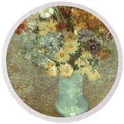 Van Gogh: Flowers, 1887 Round Beach Towel