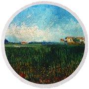 Van Gogh: Landscape, 1888 Round Beach Towel