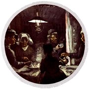 Van Gogh: Meal, 1885 Round Beach Towel